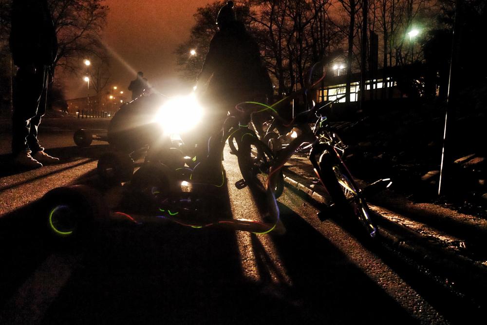 Przyozdabianie rowerków lampkami