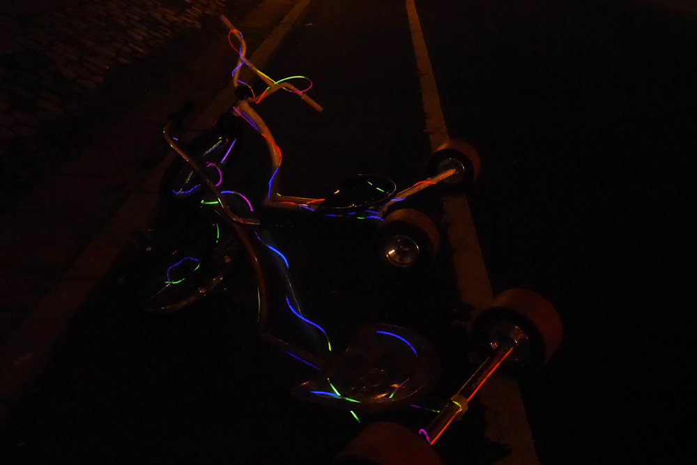 Świecące rowerki