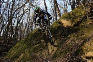 downhill rider