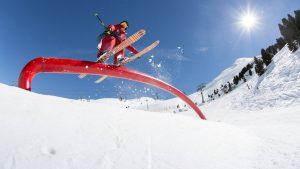 rider on ski