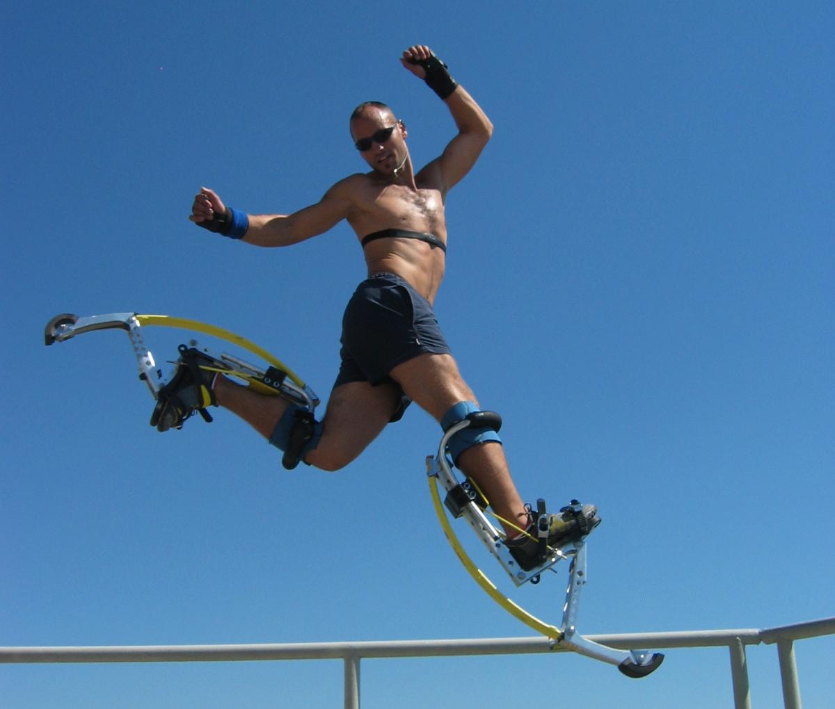Wspaniały Szczudła do skakania - Jumping stilts to naprawdę wymagająca zabawa. OF57